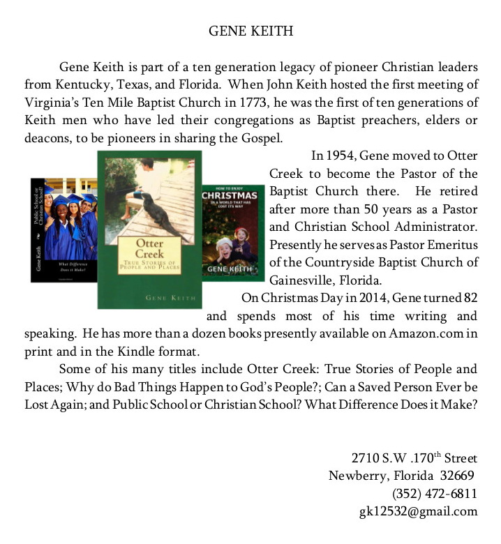 FEB 1 AUTHOR Keith bio