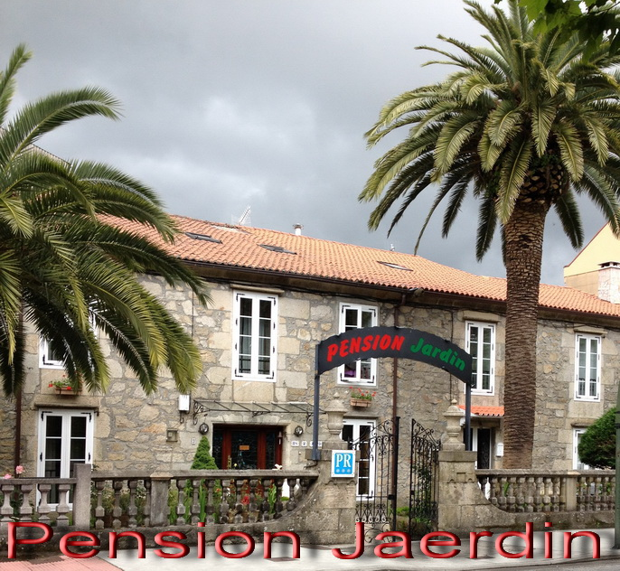 SEPT 14 Pension Jardin where we stayed in a small city