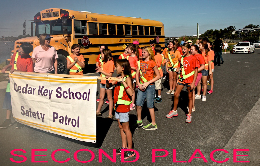OCT 24 RORY 2nd Place Tie Parade Winners Cedar Key School Safety Patrol