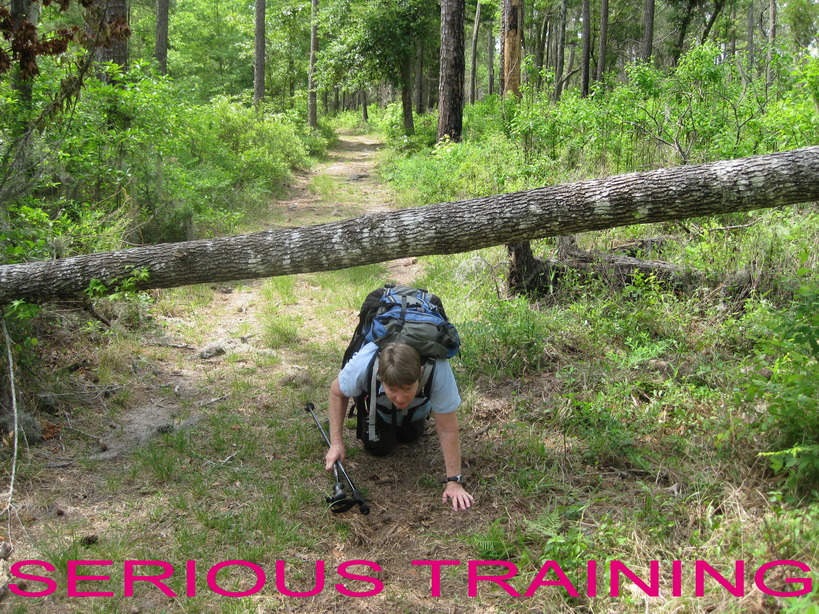 OCT 5 HALL tough training in the woods