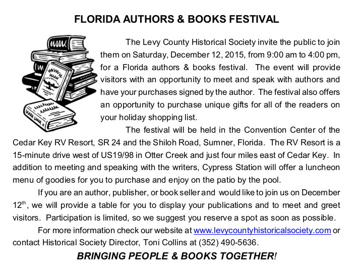 NOV 11 Florida authors books festival