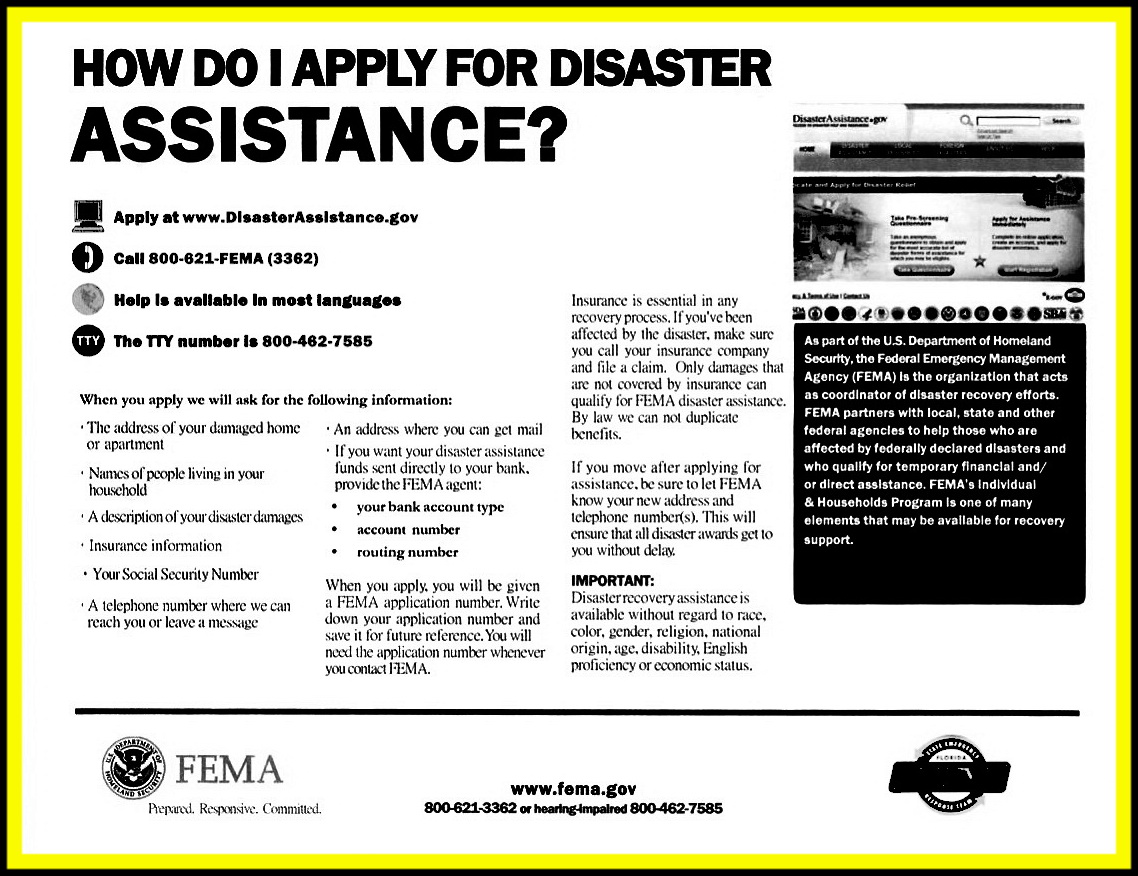 Assistance Flyer bw1