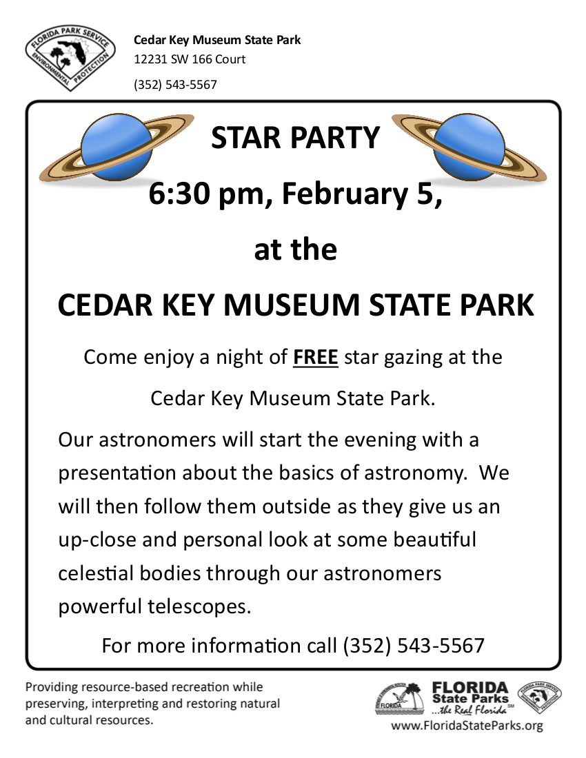 2016 Star Party Flyer