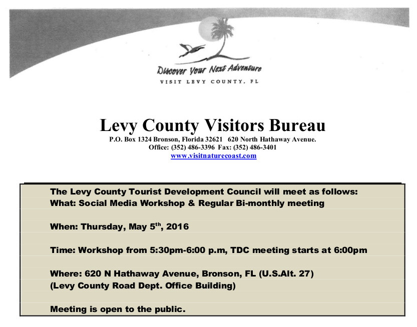 APR 25 LEVY VISITORS Email Cedar Key News