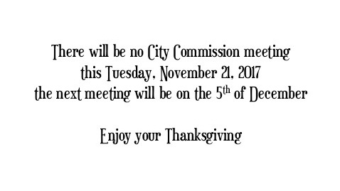 No City Com mtg