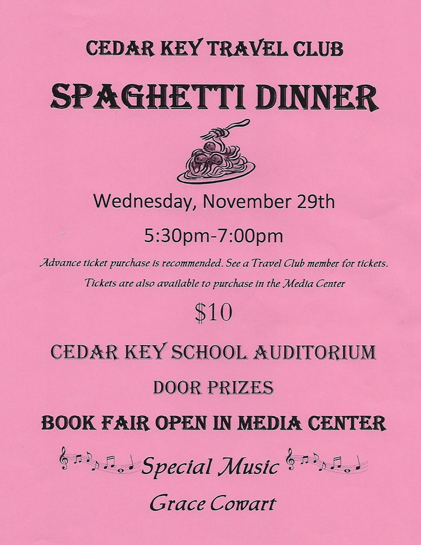 NOV 14 Spaghetti Dinner POSTER 2